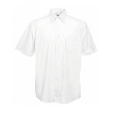 Poplin-Herrenhemd Panama Kurzarm