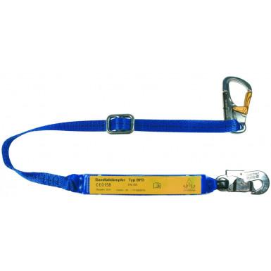 Verbindungsmittel mit Bandfalldämpfer  27mm, 1,8m, verstellbar, für Hebebühnen