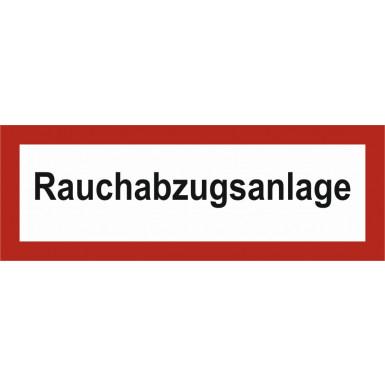 """Brandschutzzeichen """"Rauchabzuganlage"""""""