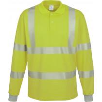 Warnschutz Polo-Shirt langarm