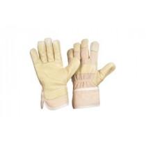 Schweinsnarbenleder-Handschuh Blaumeise