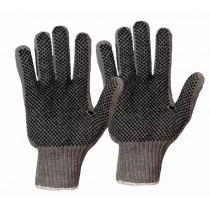 Baumwoll-Strickhandschuh Igel beidseitig benoppt