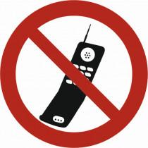 """Verbotszeichen """"Eingesch. Mobiltelefone..."""""""