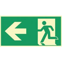 """Rettungszeichen """"Rettungsweg links"""""""
