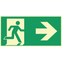 "Rettungszeichen ""Rettungsweg rechts"""