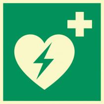 """Rettungszeichen """"Defibrilator"""""""