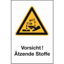 """Warnzeichen """"Ätzende Stoffe"""""""