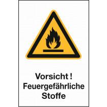 """Warnzeichen """"Feuergefährl. Stoffe"""""""
