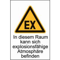 """Warnzeichen """"Explosionsfähige Atmosph."""""""