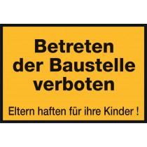 """Warnzeichen """"Betreten verboten"""""""