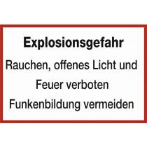 """Warnzeichen """"Explosionsgefahr"""""""